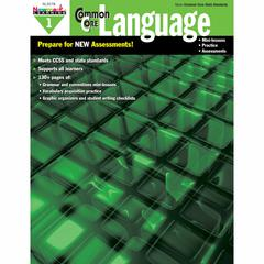 COMMON CORE PRACTICE LANGUAGE GR 1 BOOK
