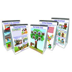 SET OF ALL 5 EARLY CHILDHOOD SOCIAL STUDIES READINESS FLIP CHART