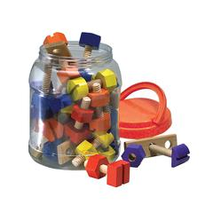 THE ORIGINAL TOY NUTS & BOLTS WOODEN 38CT
