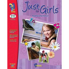 ON THE MARK PRESS JUST FOR GIRLS READING COMPREHENSION GR 3-6