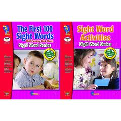 ON THE MARK PRESS FIRST 100 SIGHT WORDS & ACTIVITIES 2 BOOK SET
