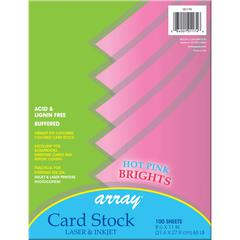 PACON ARRAY CARD STOCK BRIGHTS HOT PINK