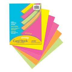 """Pacon Printable Multipurpose Card Stock - Letter - 8 1/2"""" x 11"""" - 65 lb Basis Weight - Recycled - 10% Recycled Content - 100 / Pack - Assorted"""