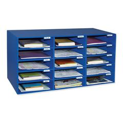 PACON MAIL BOX - 15 MAIL SLOTS BLUE