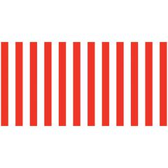 FADELESS 48X50 RED & WHT CLASSIC STRIPES DESIGN ROLL