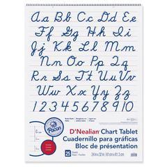 PACON D NEALIAN CHART TABLET CURSIVE