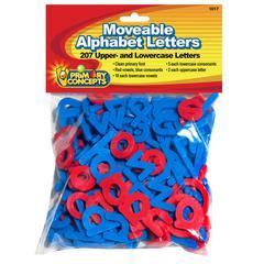 MOVEABLE ALPHABET 207 LETTERS