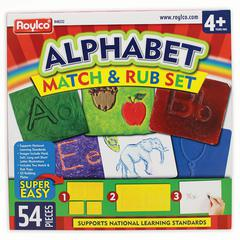 ROYLCO ALPHABET MATCH & RUB SET