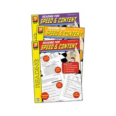 REMEDIA PUBLICATIONS READING FOR SPEED & CONTENT 3-SET BOOKS