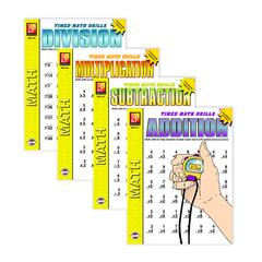 REMEDIA PUBLICATIONS TIMED MATH DRILLS 4-SET BOOKS