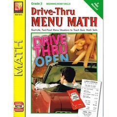 REMEDIA PUBLICATIONS DRIVE THRU MENU MATH BEGINNING MONEY SKILLS