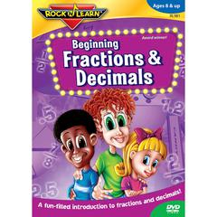ROCK N LEARN BEGINNING FRACTIONS & DECIMALS DVD