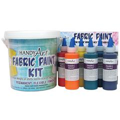ROCK PAINT / HANDY ART HANDY ART FABRIC PAINT BUCKET KIT 9 - 4OZ BOTTLES