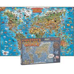 ROUND WORLD PRODUCTS WORLD MAP JIGSAW PUZZLE 500 PCS