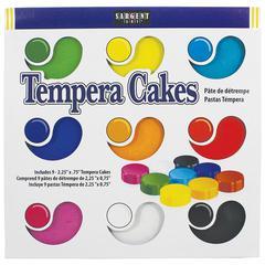 SARGENT ART 9CT ASST SARGENT ART TEMPERA CAKES