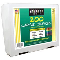 SARGENT ART BEST BUY CRAYON ASSORTMENT 200PK