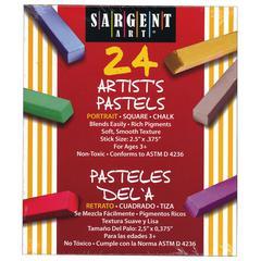 SARGENT ART 24CT PORTRAIT COLOR ARTISTS CHALK PASTELS LIFT LID BOX