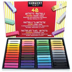 SARGENT ART 48CT ASSORTED COLOR ARTISTS CHALK PASTELS LIFT LID BOX