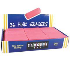 36CT LARGE PINK ERASER PACK