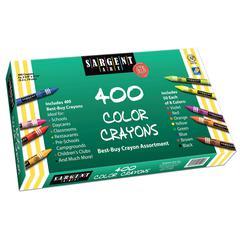 BEST BUY CRAYON ASSORTMENT 400 STANDARD CRAYONS