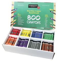 BEST BUY CRAYON 800 ASSORTMENT STD CRAYONS 100EA COLOR
