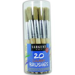 SARGENT ART 20CT JUMBO BRUSHES PLASTIC HANDLES IN CANISTER