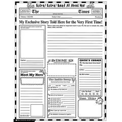 SCHOLASTIC TEACHING RESOURCES INSTANT PERSONAL POSTER SETS EXTRA EXTRA READ ALL ABOUT ME