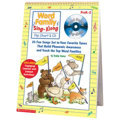 SCHOLASTIC TEACHING RESOURCES WORD FAMILY SING-ALONG FLIP CHART & CD