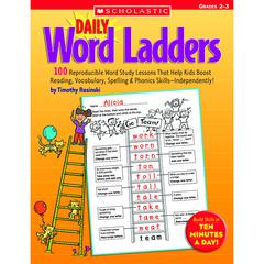 SCHOLASTIC TEACHING RESOURCES DAILY WORD LADDERS GR 2-3