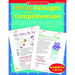 SCHOLASTIC TEACHING RESOURCES HI-LO PASSAGES TO BUILD COMPREHENSION GR 3-4