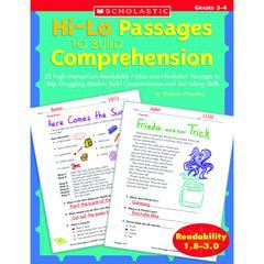 HI-LO PASSAGES TO BUILD COMPREHENSION GR 3-4