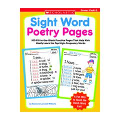 SCHOLASTIC TEACHING RESOURCES SIGHT WORD POETRY PAGES