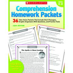SCHOLASTIC TEACHING RESOURCES COMPREHENSION HOMEWORK PACKETS