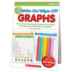 SCHOLASTIC TEACHING RESOURCES 10 WRITE ON WIPE OFF GRAPHS FLIP CHART