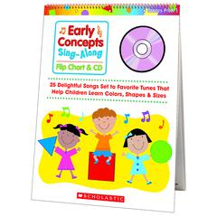 SCHOLASTIC TEACHING RESOURCES EARLY CONCEPTS SINGALONG FLIP CHART & CD