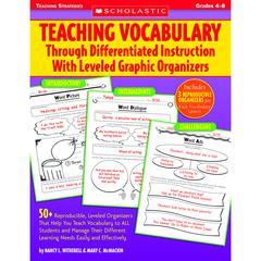 SCHOLASTIC TEACHING RESOURCES TEACHING VOCABULARY THROUGH DIFFERENTIATED INSTRUCTION W/ LVLD