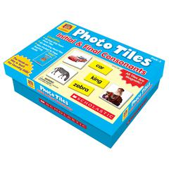 SCHOLASTIC TEACHING RESOURCES PHOTO TILES INITIAL & FINAL CONSONANTS