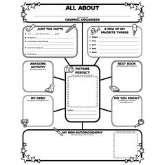 SCHOLASTIC TEACHING RESOURCES ALL ABOUT ME WEB GRAPHIC ORGANIZER POSTERS