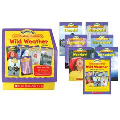 SCHOLASTIC TEACHING RESOURCES SCIENCE VOCABULARY READERS WILD WEATHER