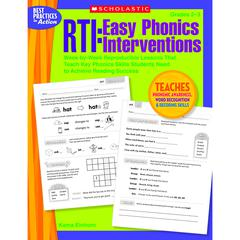 SCHOLASTIC TEACHING RESOURCES RTI EASY PHONICS INTERVENTIONS