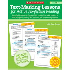 TEXT MARKING LESSONS FOR ACTIVE NON FICTION READING GR 2-3