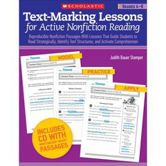 SCHOLASTIC TEACHING RESOURCES TEXT MARKING LESSONS FOR ACTIVE NON FICTION READING GR 4-8