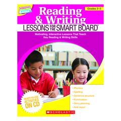 SCHOLASTIC TEACHING RESOURCES READING & WRITING LESSONS GR 2-3 FOR THE SMART BOARD