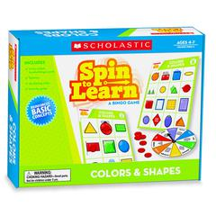 SCHOLASTIC TEACHING RESOURCES SPIN TO LEARN COLORS & SHAPES GAME