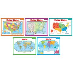 SCHOLASTIC TEACHING RESOURCES TEACHING MAPS BB SET
