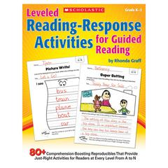 SCHOLASTIC TEACHING RESOURCES LEVELED READING RESPONSE ACTIVITIES FOR GUIDED READING