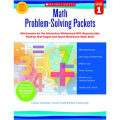 SCHOLASTIC TEACHING RESOURCES MATH PROBLEM SOLVING PACKETS GR 1