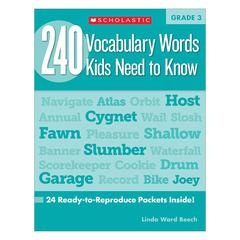 240 VOCABULARY WORDS KIDS NEED TO KNOW GR 3