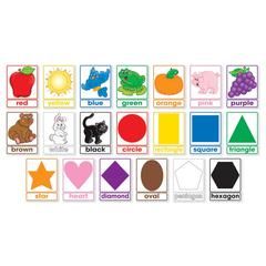 SCHOLASTIC TEACHING RESOURCES COLORS & SHAPES BULLETIN BOARD