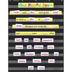 SCHOLASTIC TEACHING RESOURCES STANDARD BLACK POCKET CHART